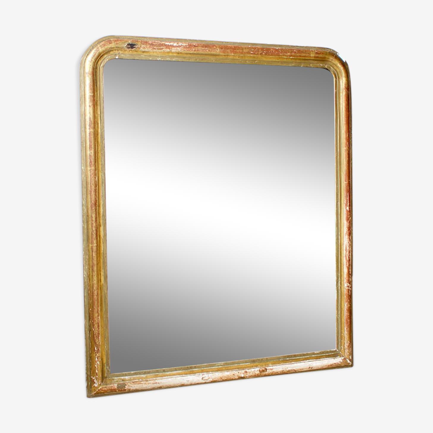 Gilded in gold leaf mirror 80x68cm