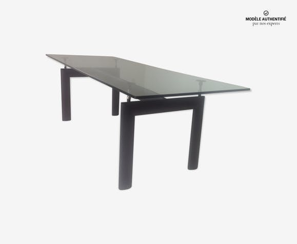 Table Cassina Le Corbusier LC6 - verre et cristal - transparent ...