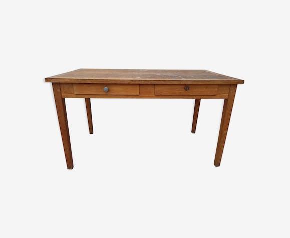 Schoolmaster's wooden desk