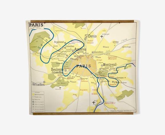 Affiche représentant Paris et sa région