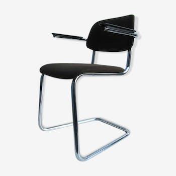 Chaise de bureau en acier tubulair