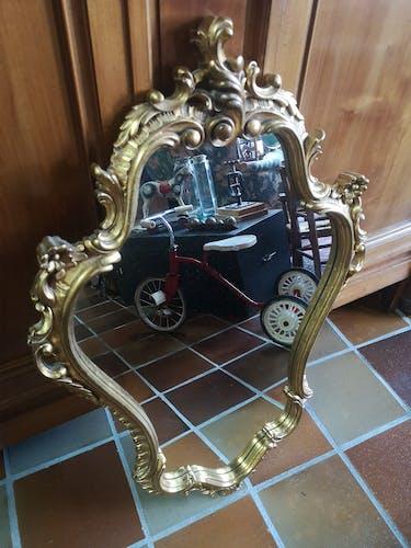 Miroir moderne doré - 90x60cm