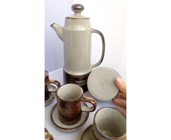 Service à café en grès du Japon, années 80