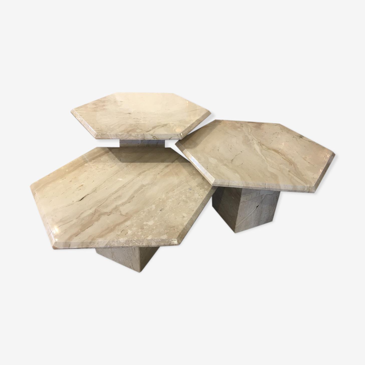 Tables basses en marbre