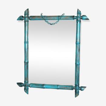 Miroir en bois vintage rectangulaire 51 x 42 cm
