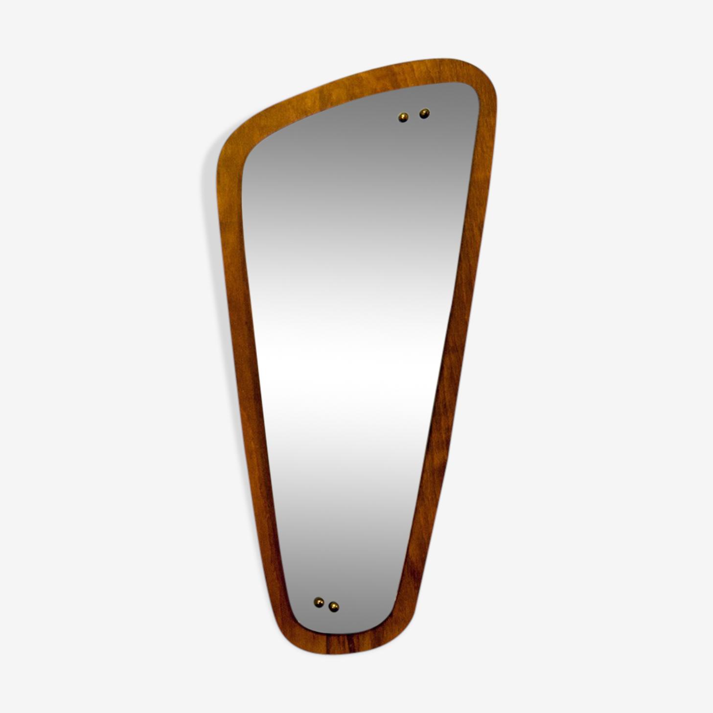 Asymmetric mirror oak 35x72cm