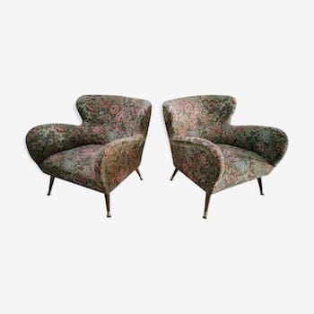 Paire de fauteuils cocktails organiques années 50-60