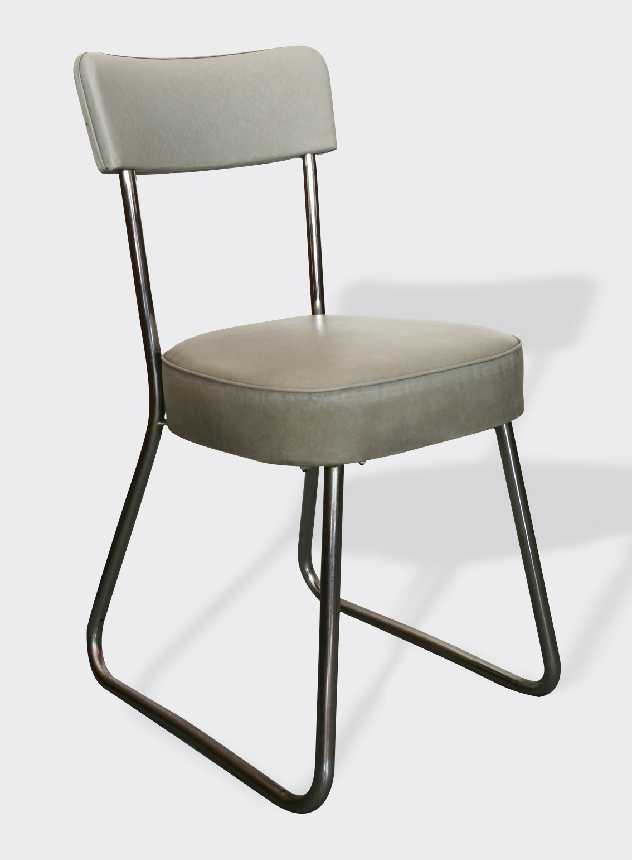 Chaise de bureau industrielle Rono mtal gris industriel 2785