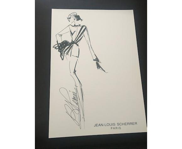 Jean-Louis Scherrer: illustration de mode et photographie de presse vintage