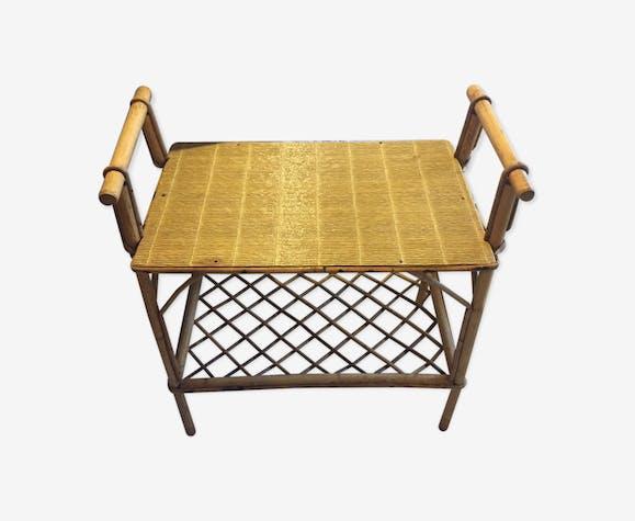 Table d'appoint en rotin