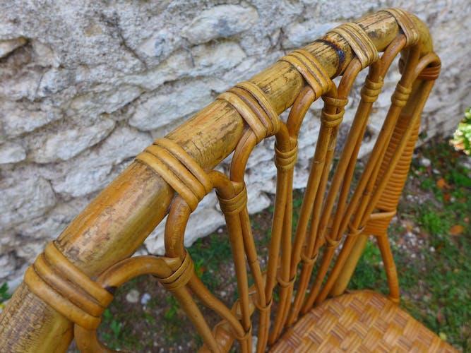 Chaise vintage en rotin