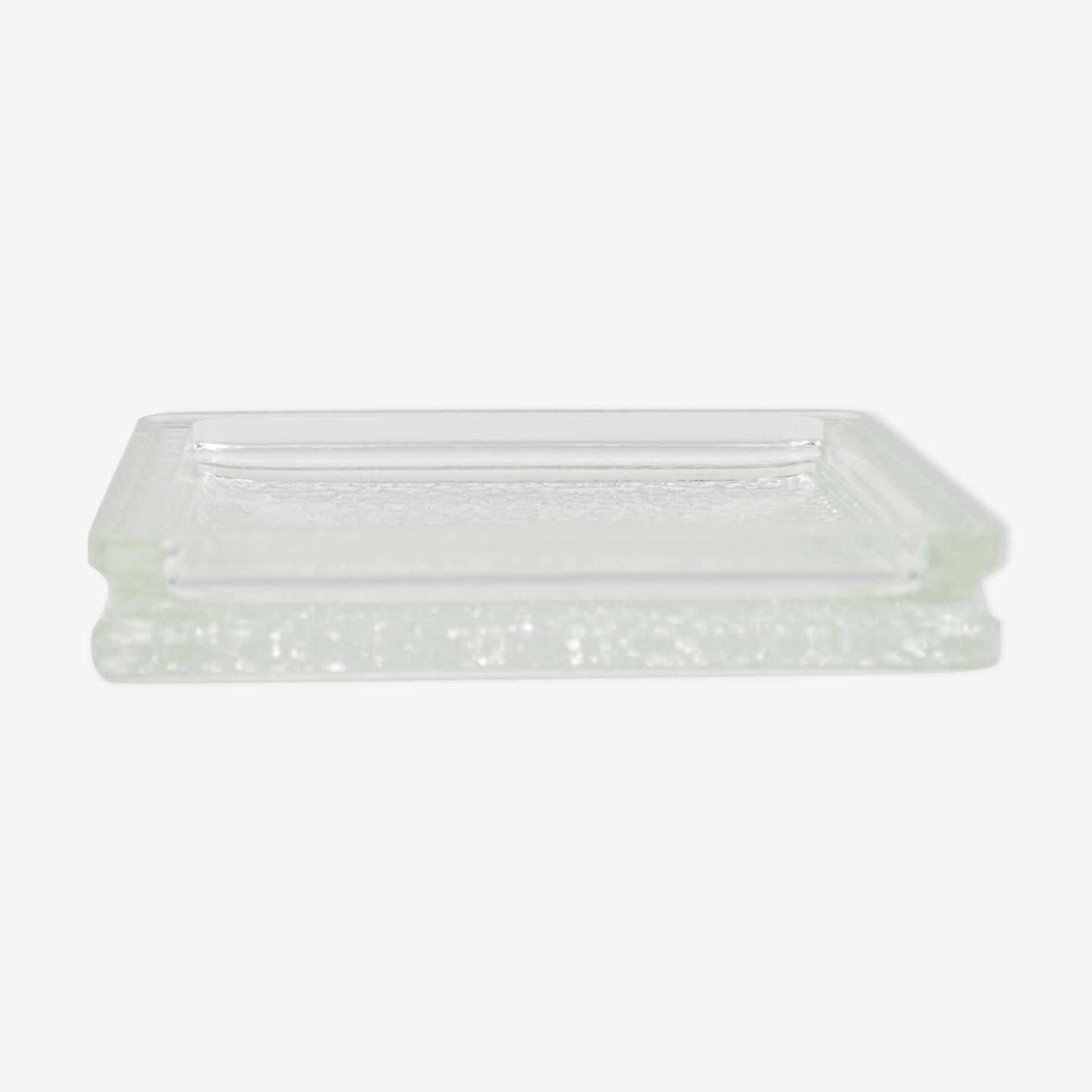 Vide poche carré en verre moulé