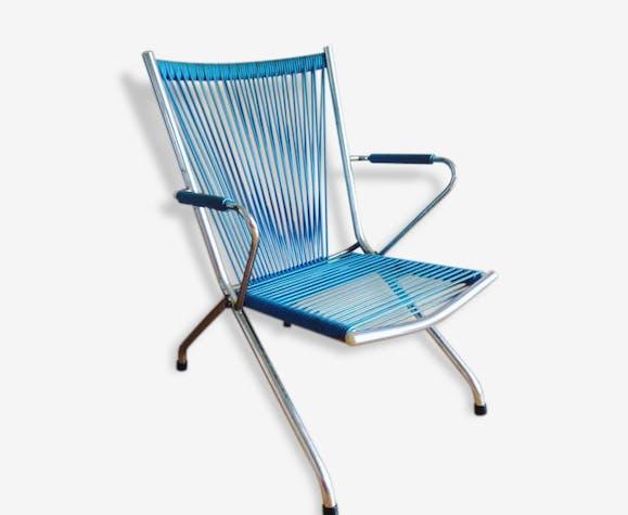 Métal Chaise Enfant Cxbwored Vintage Bleu Scoubidou 24790 PkOw8n0