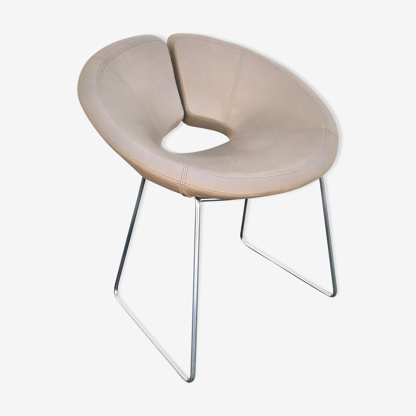 "Armchair leather ""Apollo"" design Patrick Norguet for Artifort"