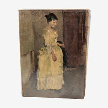 Woman in the yellow dress