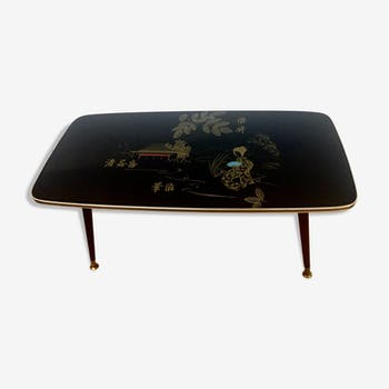 Table basse vintage decor chinois