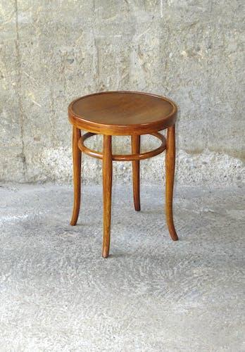 Tabouret de bistrot bois-courbé 1915 assise bois