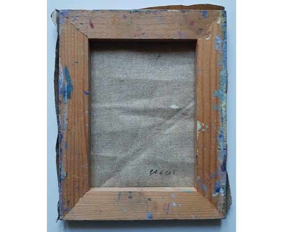 """Peinture de Nagao Usui : """"Les toits de Paris depuis la fenêtre"""""""