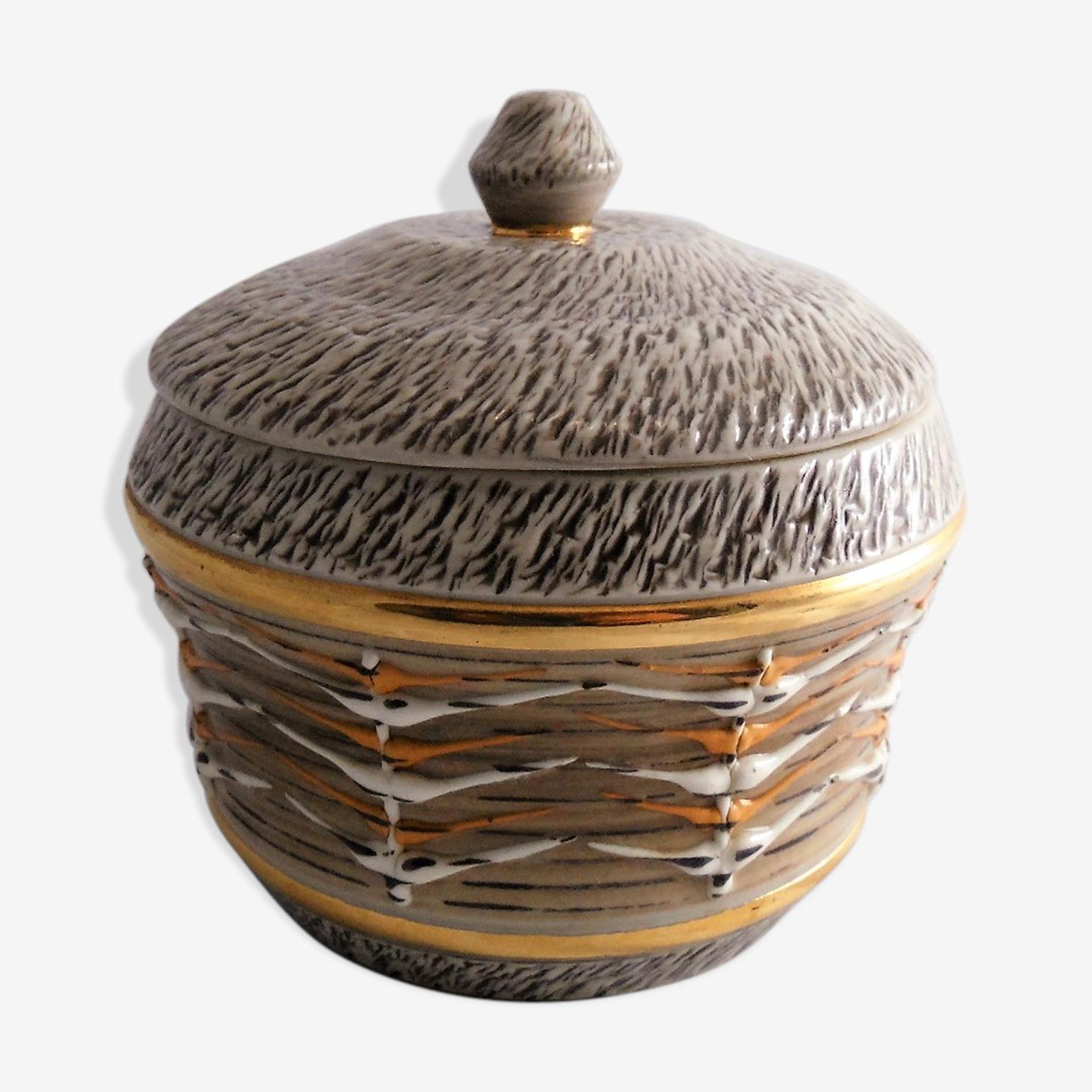 Bonbonnière céramique année 60-70 signée
