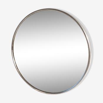 Miroir de barbier rond éclairé et grossissant