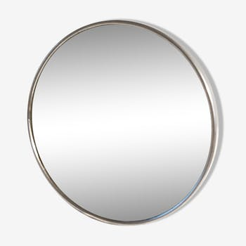 Round Barber informed and magnifying mirror