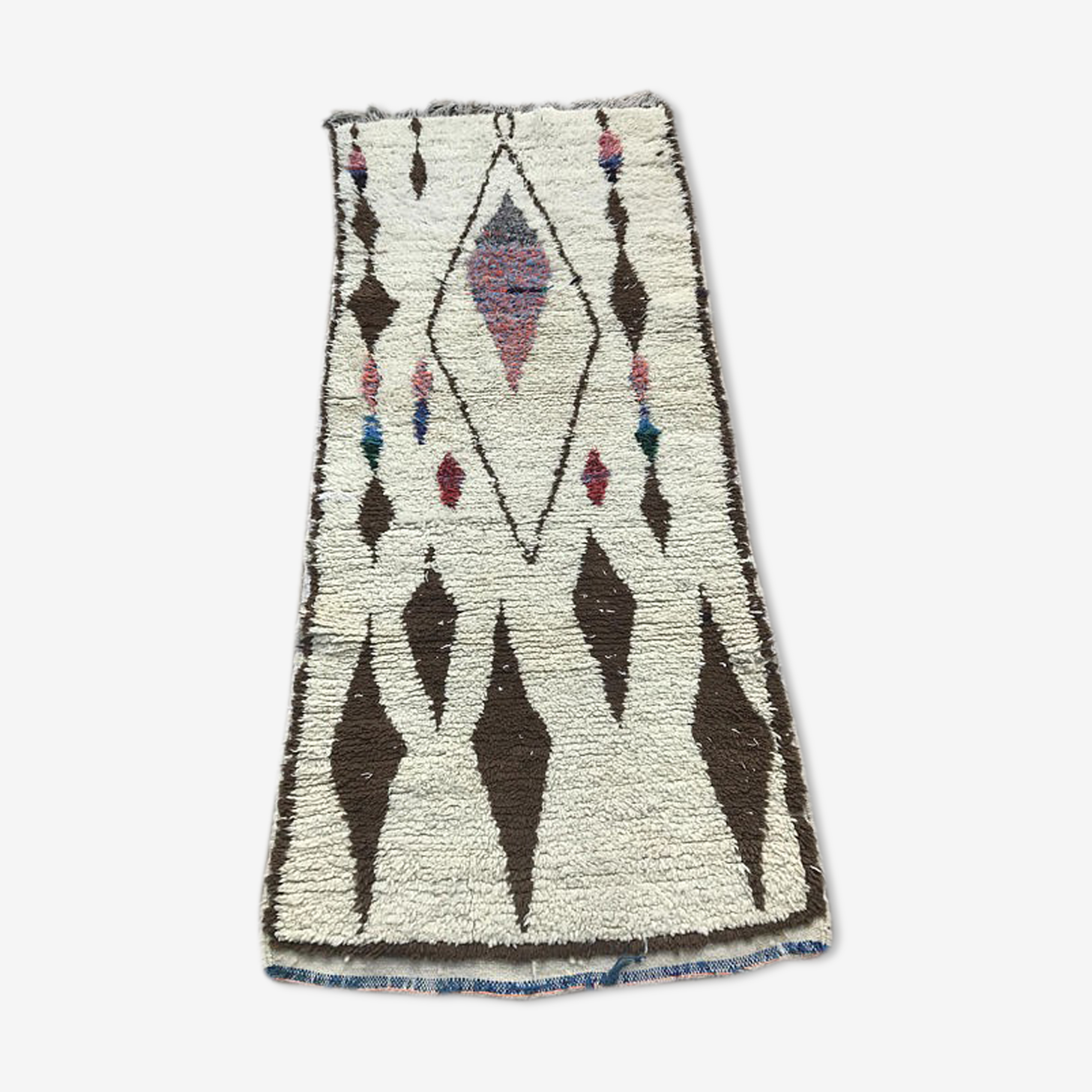 Tapis Berbere Azilal 210x85cm Wool Cotton Multicolour Ethnic