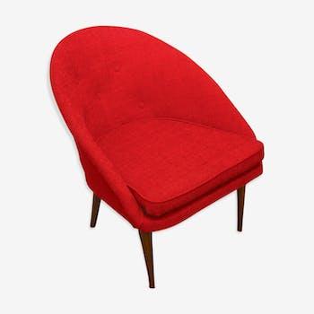 Cocktail shell armchair Italian 60s