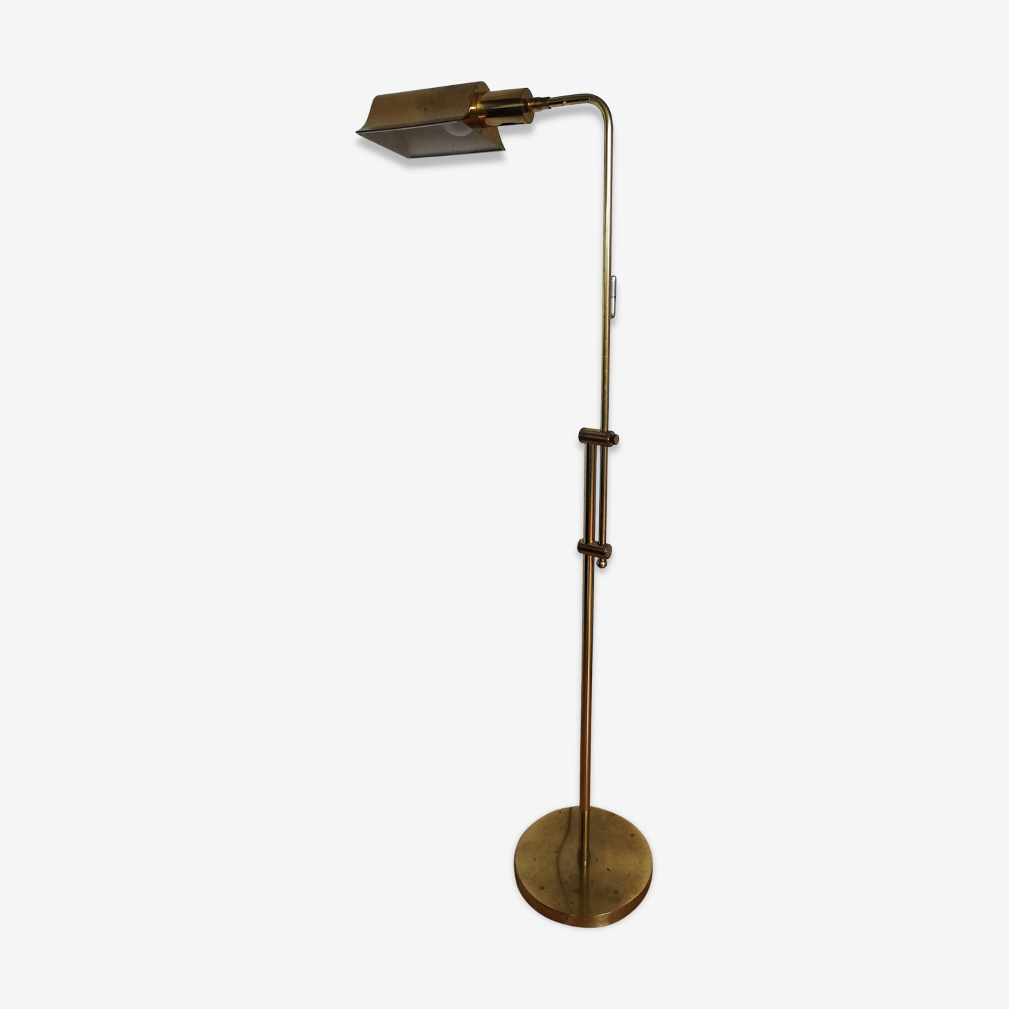 Lampadaire liseuse métal doré design Italy