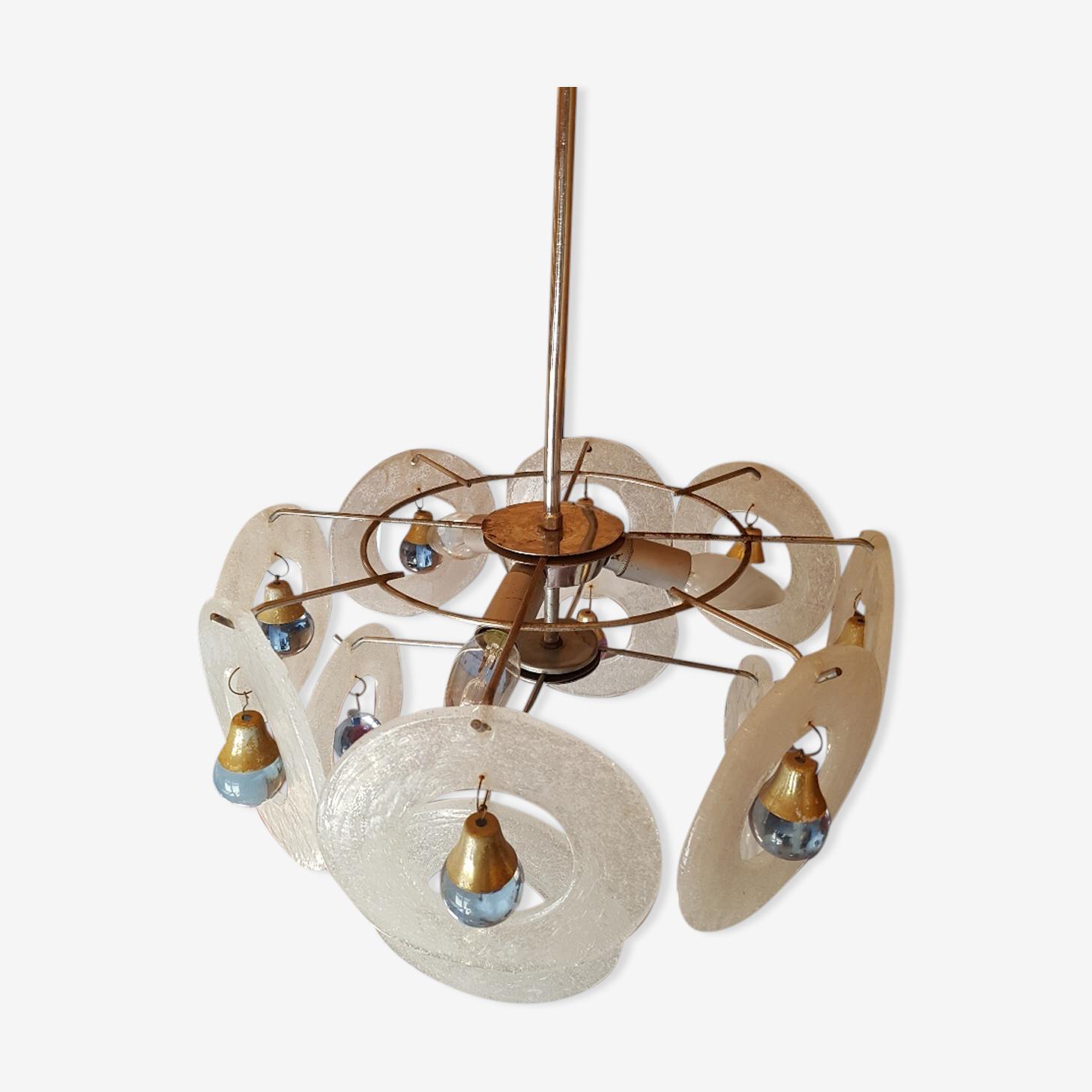 Chandelier  design Vistosi for Venini in Murano glass