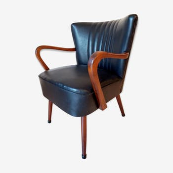 Black cocktail Chair with armrests