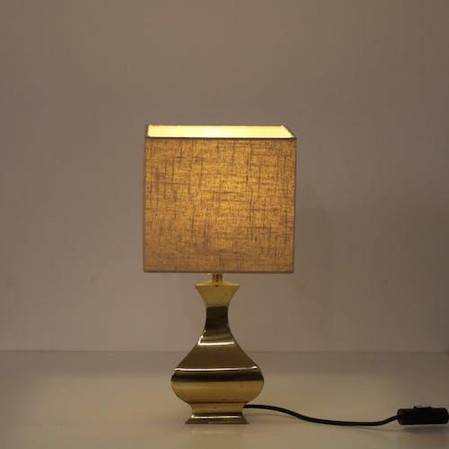 Lampe de table en laiton fabriquée en France 1970