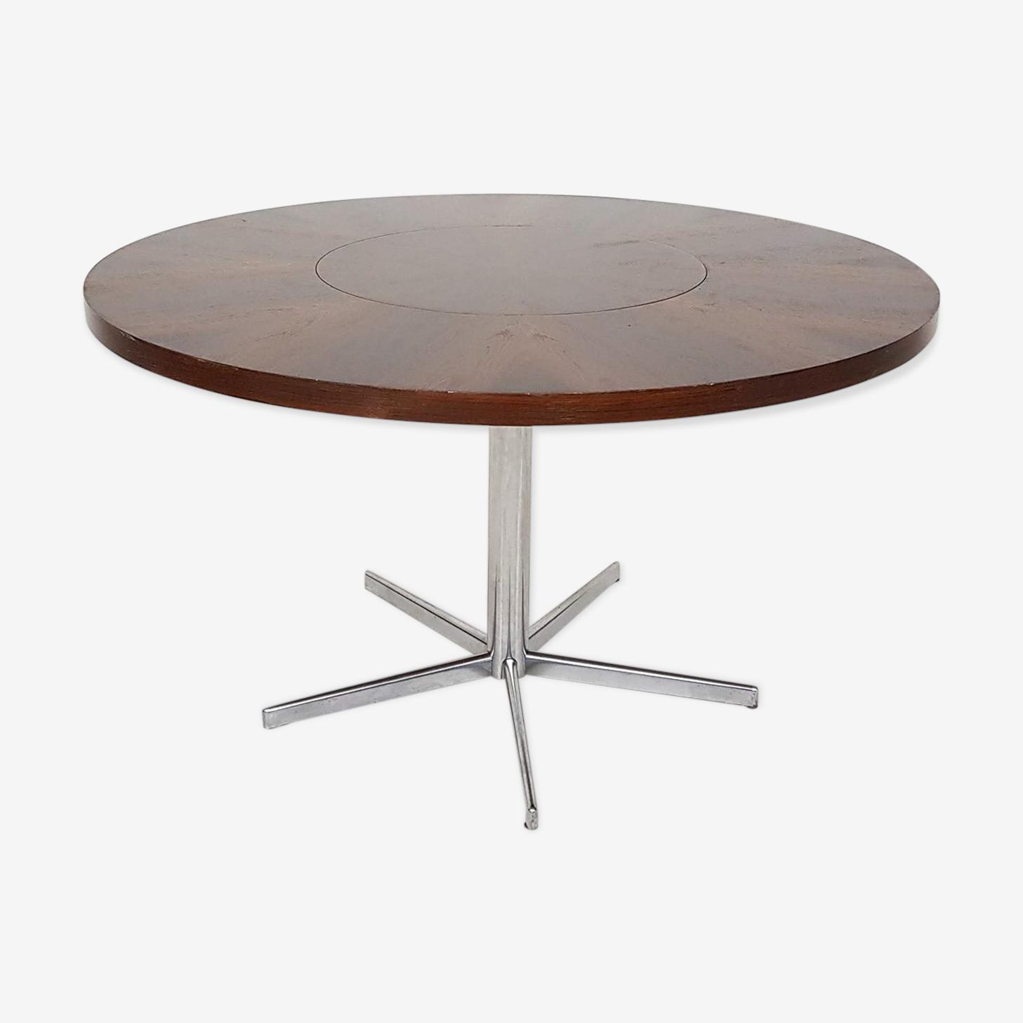 Table à manger ronde palissandre par EMÜ Allemagne 1960 's