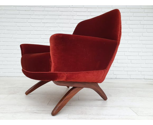 Danish lounge chairs by Leif Hansen 60s