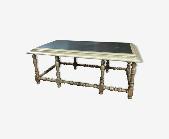 Table basse plateau ardoise - bois (Matériau) - blanc - classique ...