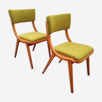 Pair of chairs ski jumper design polish 1960