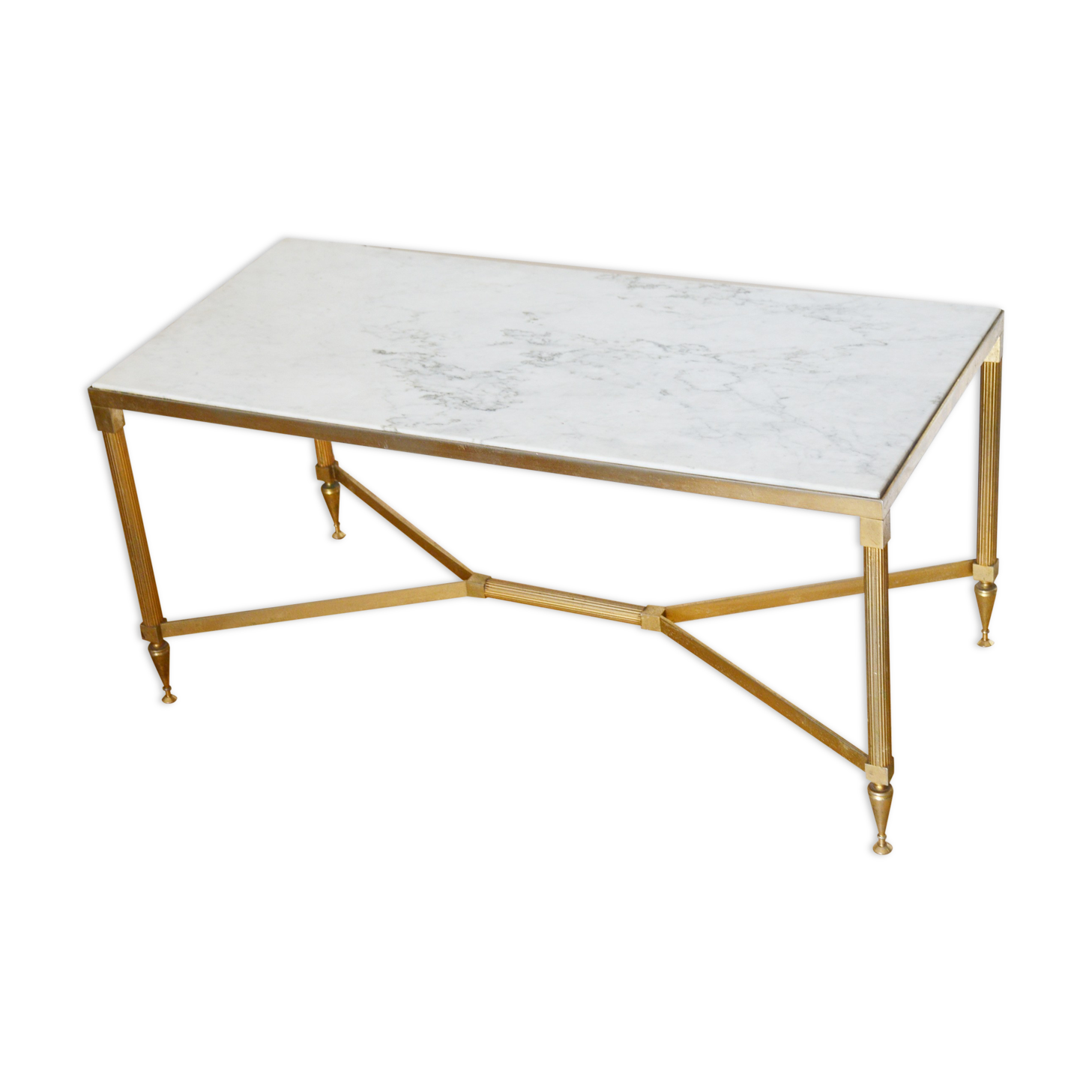 Table basse marbre blanc simple la table basse en marbre - Table knoll ovale marbre blanc ...