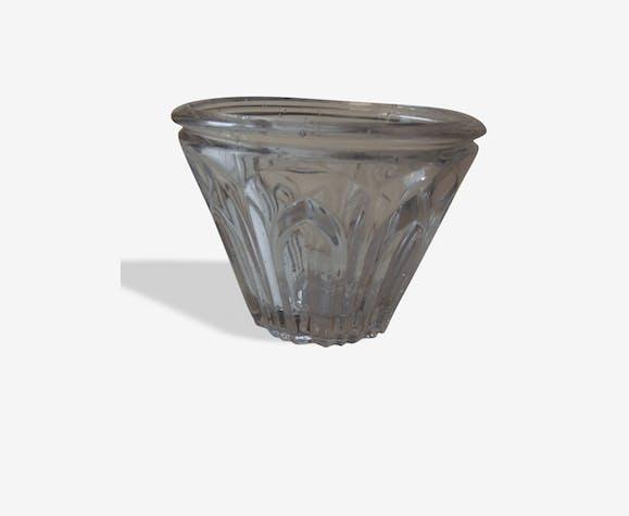 Ancien pot à confiture de forme cônique