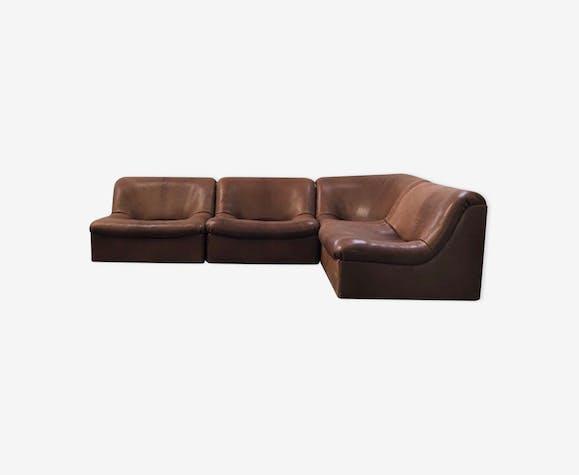 canap suisse ds46 de sede cuir marron vintage mwcj2zr. Black Bedroom Furniture Sets. Home Design Ideas