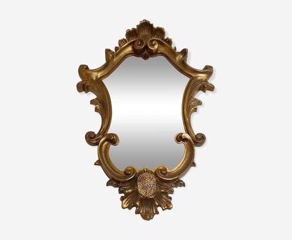 Miroir italien doré 27x40cm