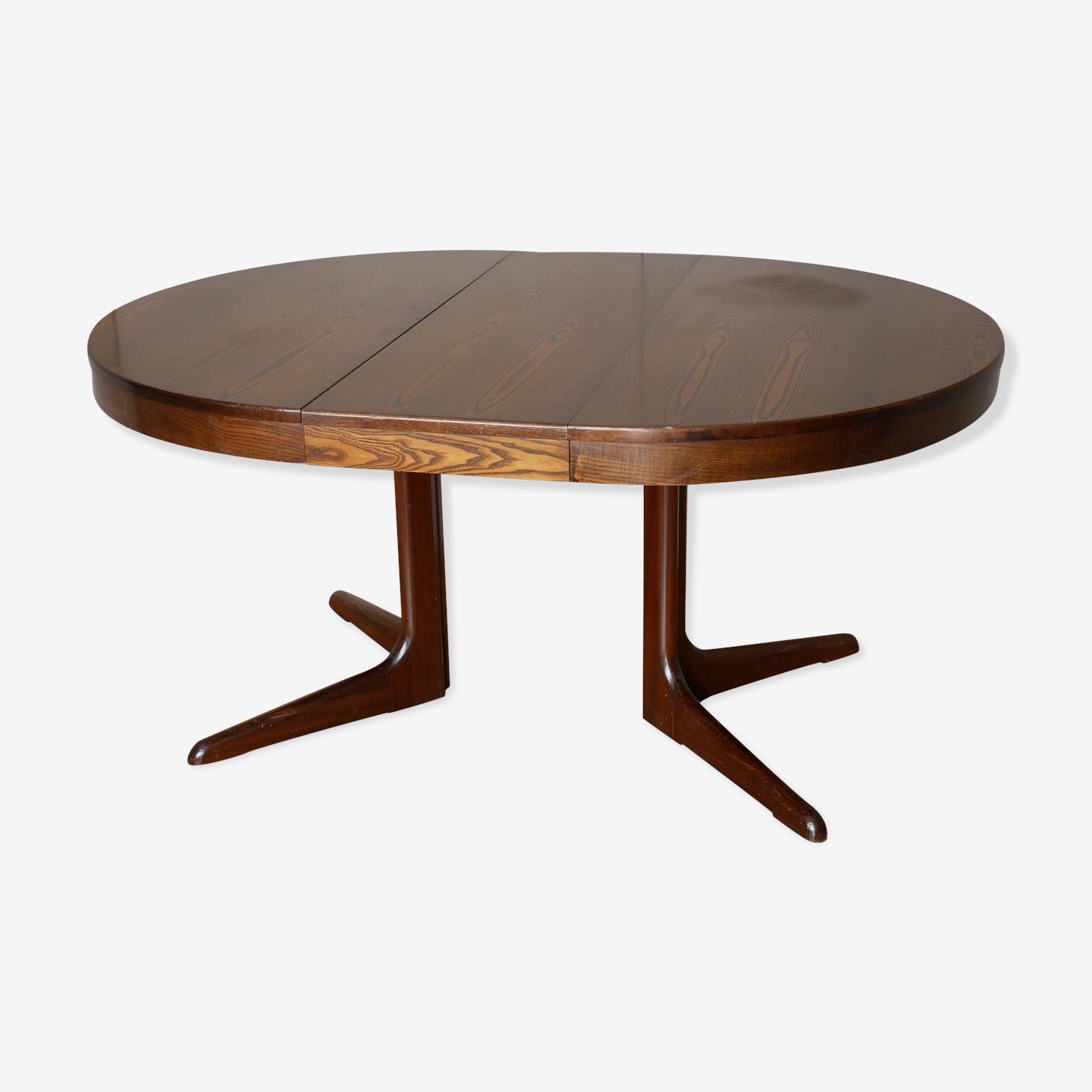 Table Ronde Extensible En Bois Des Annees 50 60 Wood Wooden