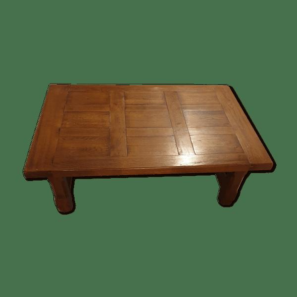 Table Chêne Xy3gf2ks Vintage En Basse Rustique État BoismatériaucouleurBon OwXiTZkuP