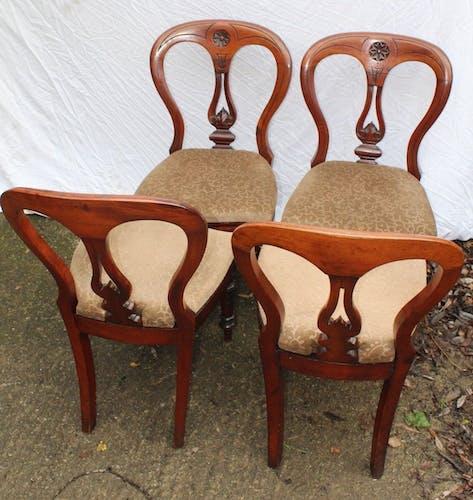 Set de 4 chaises en ballon en acajou X