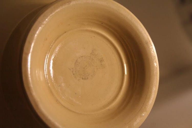 Old bowl in Badonviller earthenware