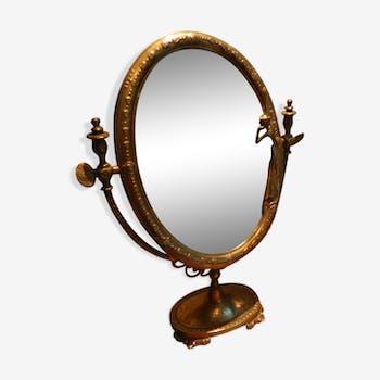 Miroirs vintage et anciens d 39 occasion for Petit miroir sur pied ancien