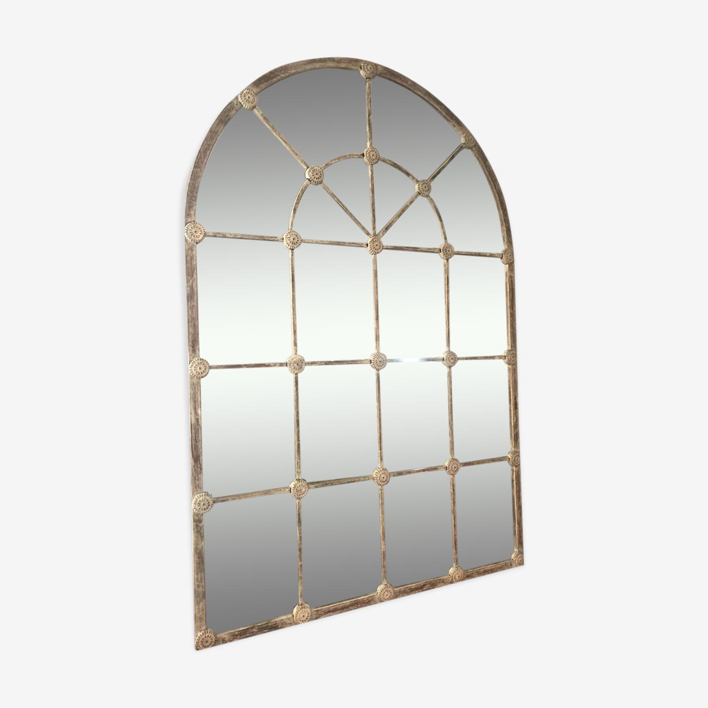 Metal mirror of workshop