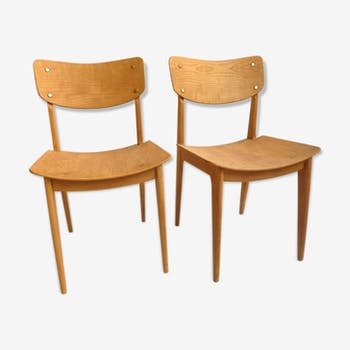 Pair of chairs wood 50