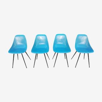 Suite de 4 chaises Coccinelle