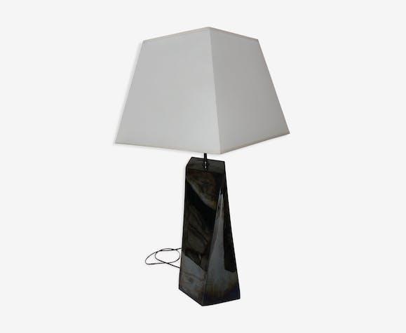 Lampe en céramique signé fdc pour faiencerie de charolles ...