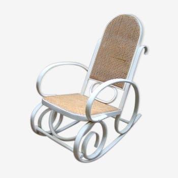 Rocking chair canné ancien
