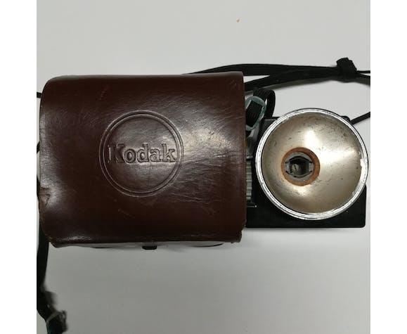 Kodak camera photo Brownie Starlet avec étui cuir et flash - années 50-60